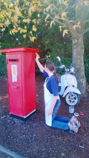 Painting the pillar box