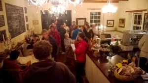 Final serenade evening - troubadours returning for coffee